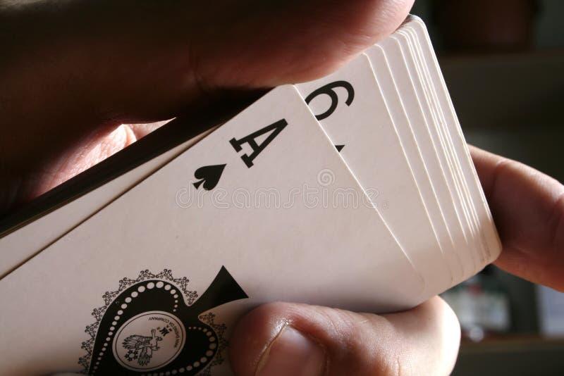 De trucsnadruk van speelkaarten royalty-vrije stock foto's