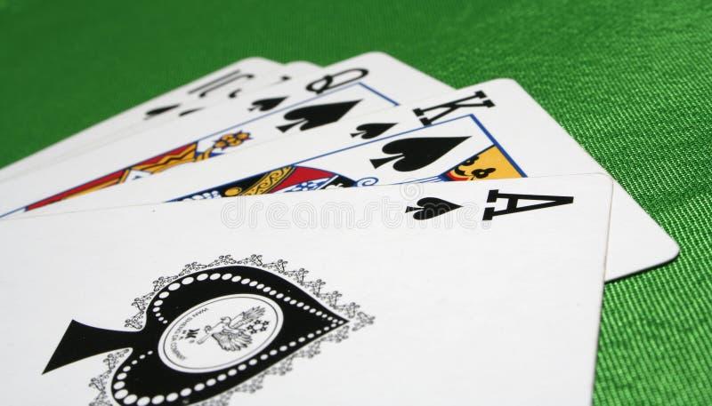 De trucsnadruk van speelkaarten stock afbeelding