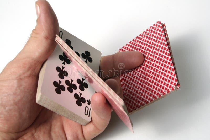 De trucsnadruk van speelkaarten stock afbeeldingen