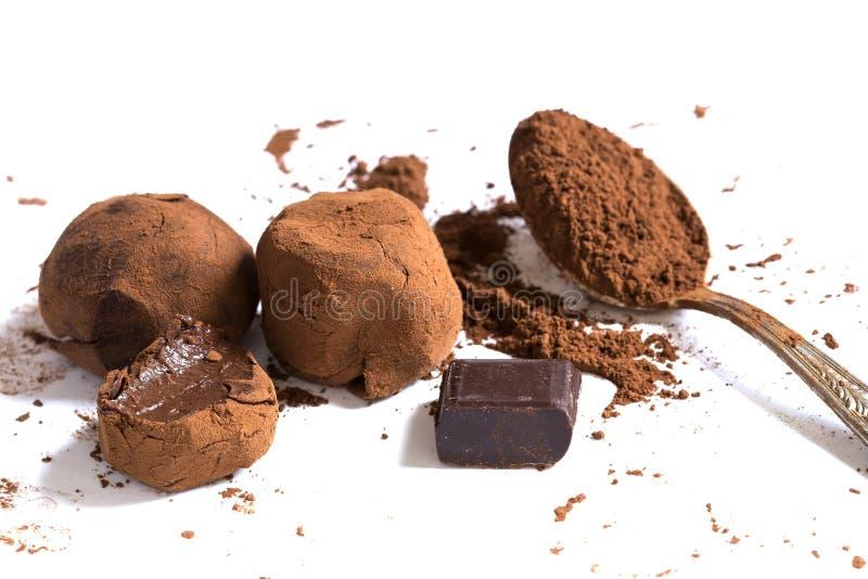 De truffels van de chocolade royalty-vrije stock foto