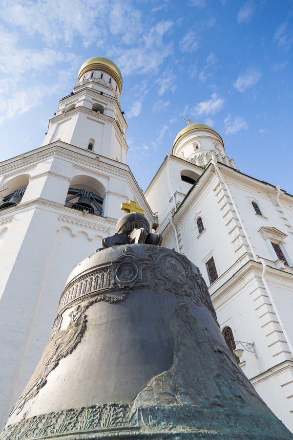 De Tsaarklok, de grootste klok in de wereld, Moskou, Rusland stock afbeeldingen