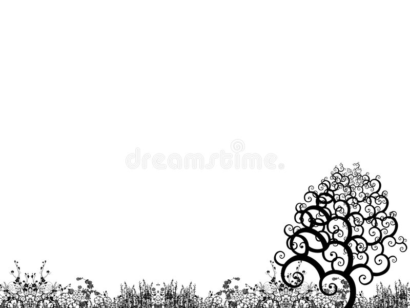 In de tuin vector illustratie