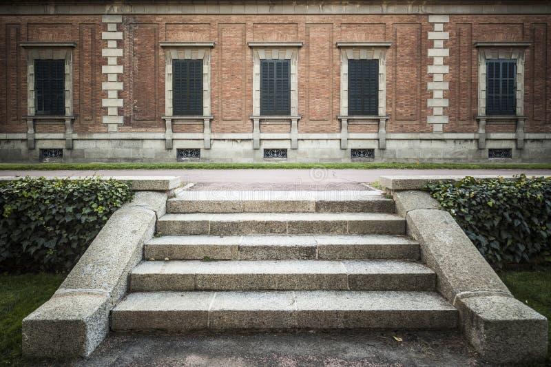De tuin, Jardins Joan Maragall en het paleis Albeniz, parkeren montjuic, DE royalty-vrije stock foto's