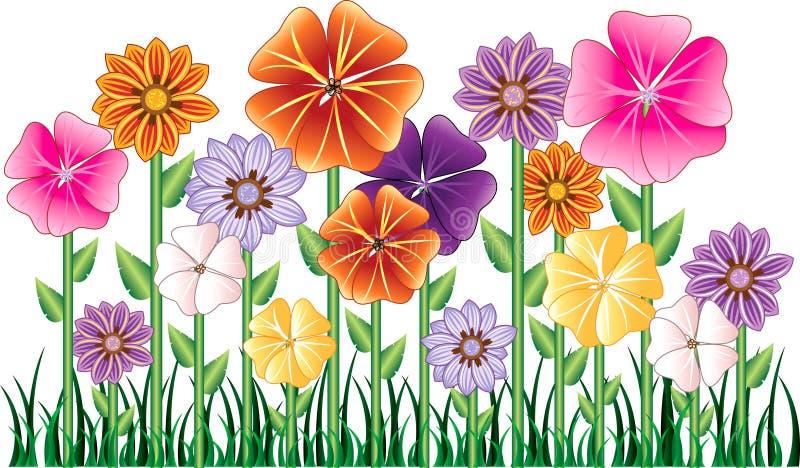 De Tuin van de bloem royalty-vrije illustratie