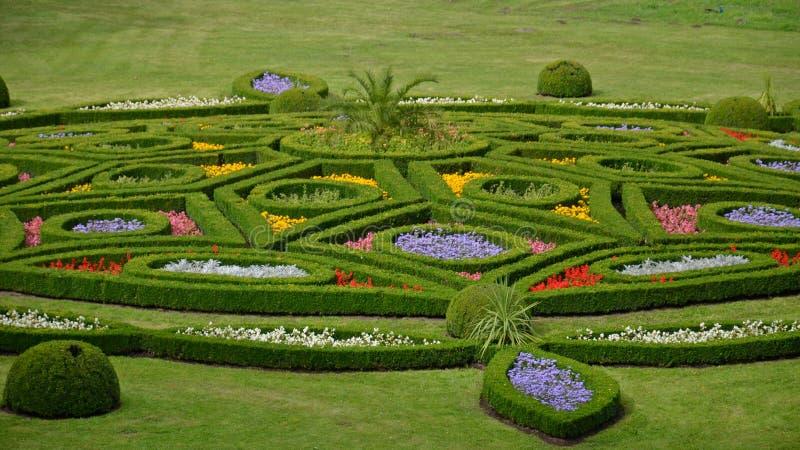 De tuin van de bloem in Kromeriz, Tsjechische Republiek royalty-vrije stock foto