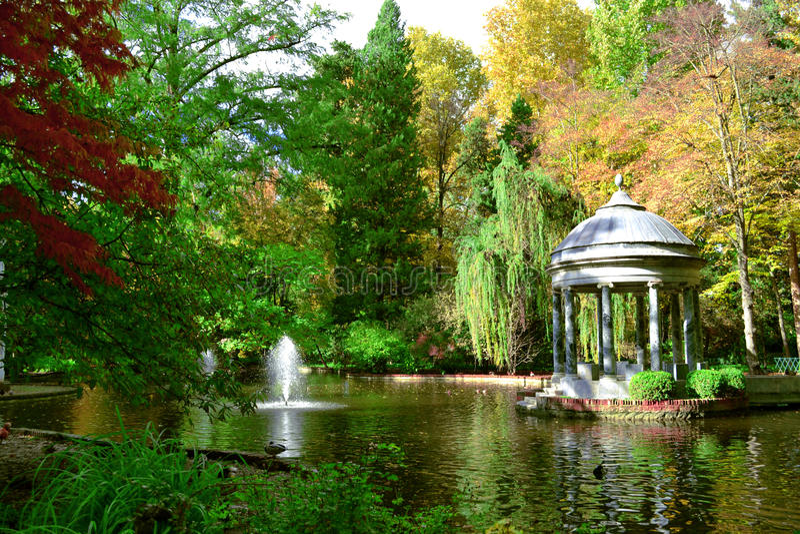 De tuin van de Prins in Aranjuez stock foto