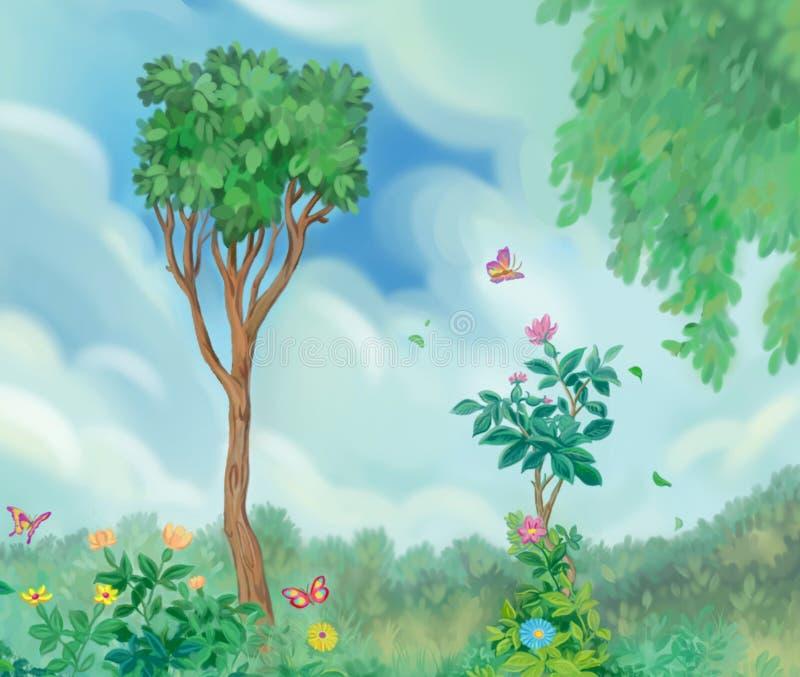De tuin van de zomer vector illustratie