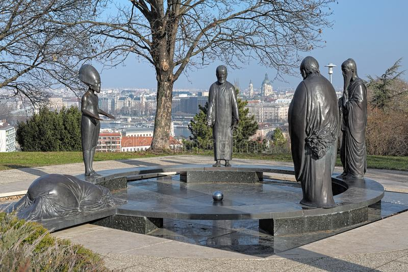 De Tuin van Filosofiemonument in Boedapest, Hongarije stock foto's
