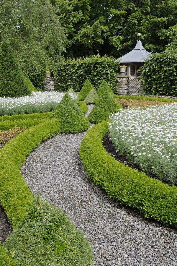 De tuin van het buitenhuis royalty-vrije stock foto