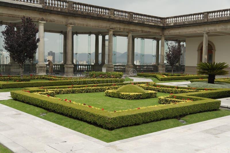 De Tuin van het Kasteel van Chapultepec stock afbeeldingen