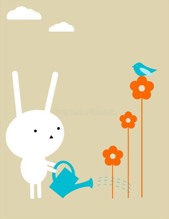 De tuin van het konijntje stock illustratie