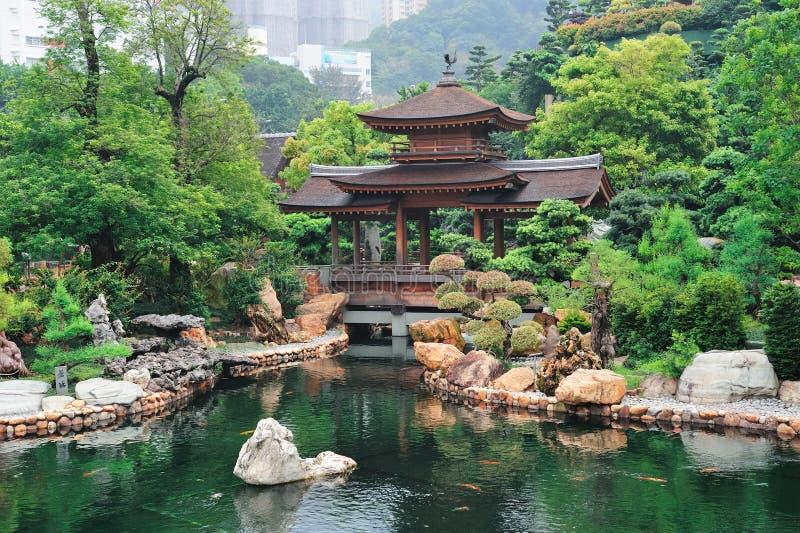 De tuin van Hongkong stock afbeeldingen