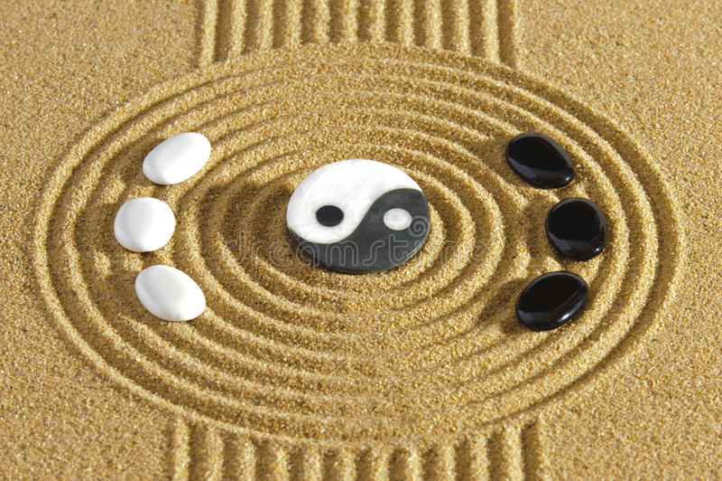 De tuin van Japan zen royalty-vrije stock afbeelding