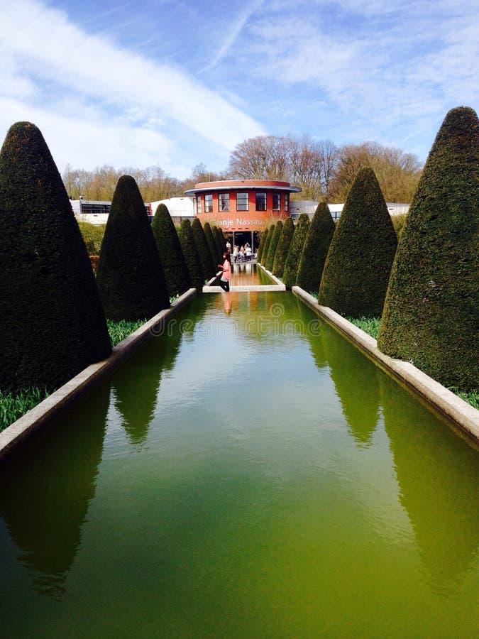 De tuin van Keukenhof stock foto