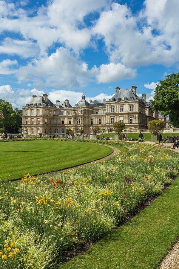 De Tuin van Luxemburg (Jardin du Luxemburg) in Parijs, Frankrijk stock fotografie