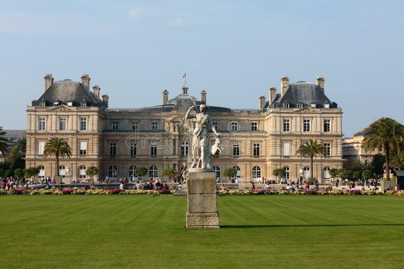 De tuin van Luxemburg in Parijs royalty-vrije stock foto