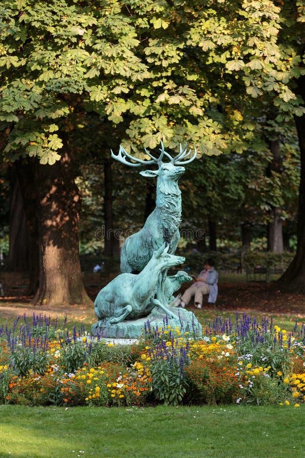 De Tuin van Luxemburg, Parijs stock foto's