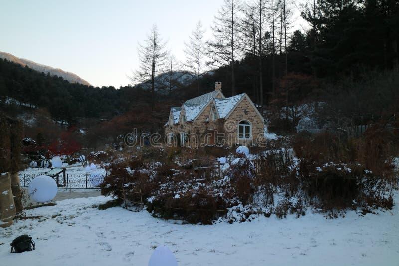 De Tuin van Ochtendrust, het Festival van de de Winterverlichting, Seoel royalty-vrije stock afbeeldingen