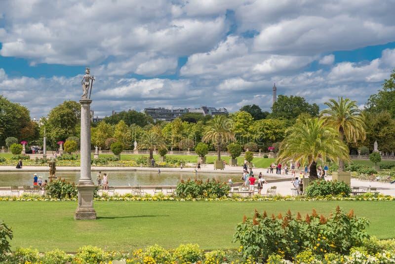 De tuin van Parijs, Luxemburg royalty-vrije stock fotografie