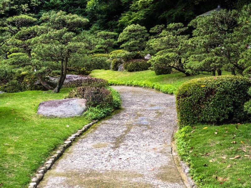 De tuin van traditiejapan, Zen-tuin stock foto's
