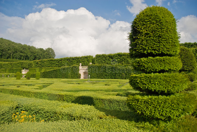 De Tuin van Villandry van Chateau stock fotografie