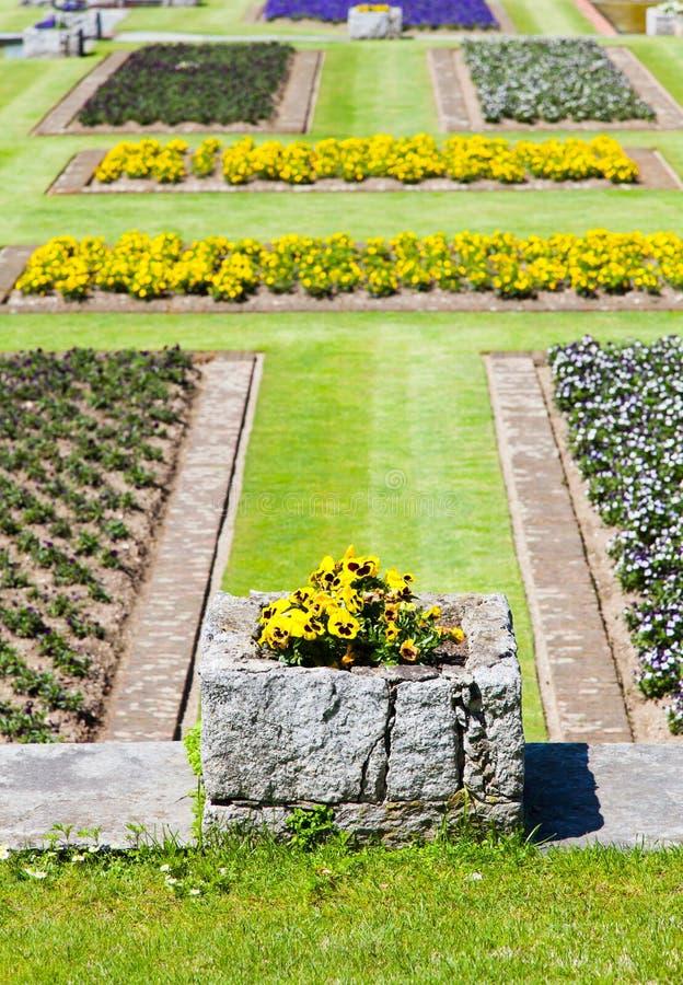 De tuin van villataranto royalty-vrije stock afbeeldingen