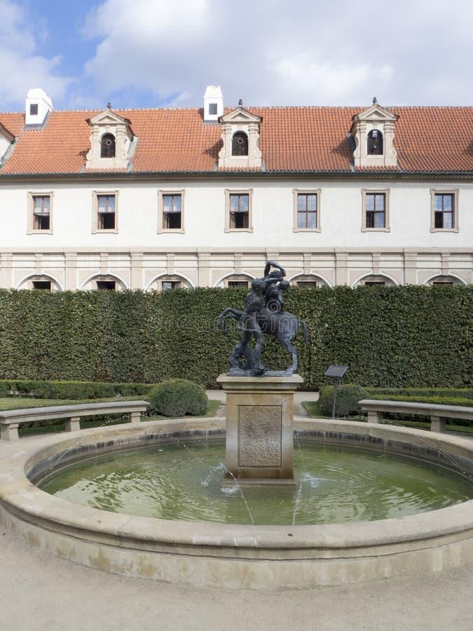 De Tuin van Wallenstein, Praag royalty-vrije stock fotografie