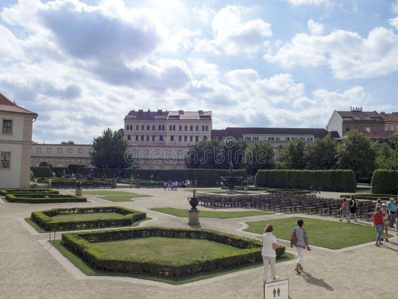 De Tuin van Wallenstein, Praag stock afbeelding