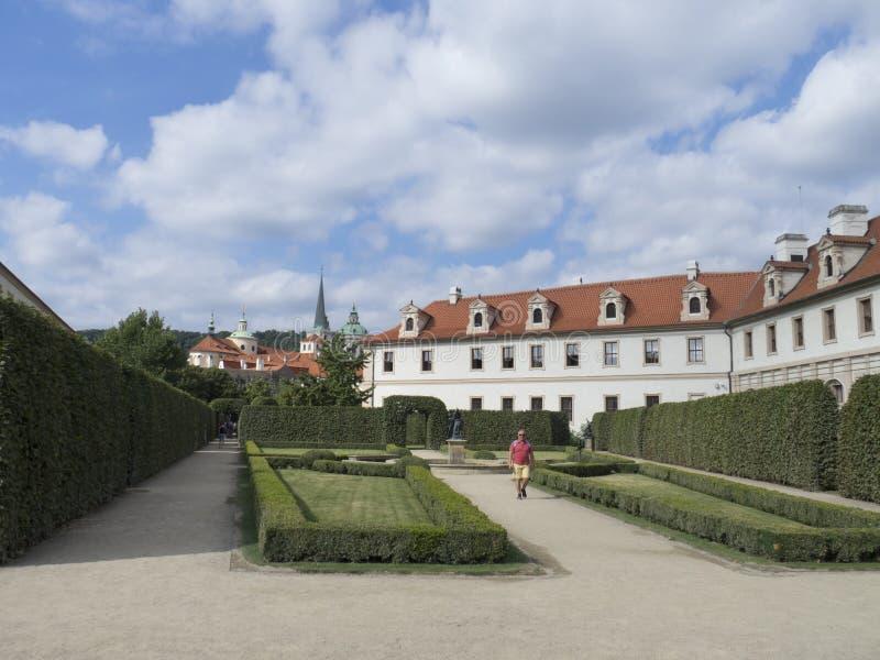 De Tuin van Wallenstein, Praag royalty-vrije stock afbeelding