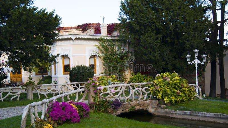 De tuin van Yildiz Palace royalty-vrije stock afbeelding