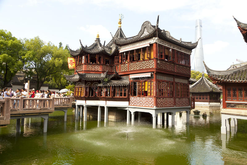 De tuin van Yuyuans in Shanghai, China royalty-vrije stock foto