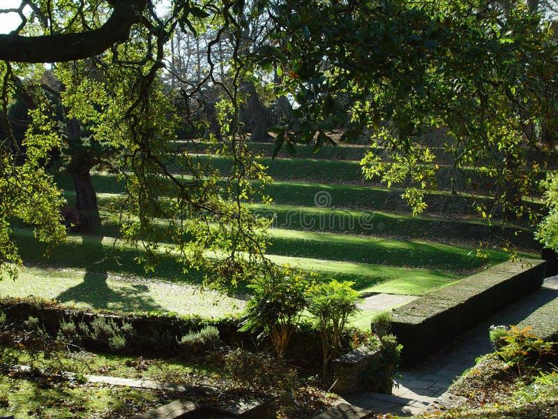 De tuin van Zaal Dartington royalty-vrije stock afbeelding