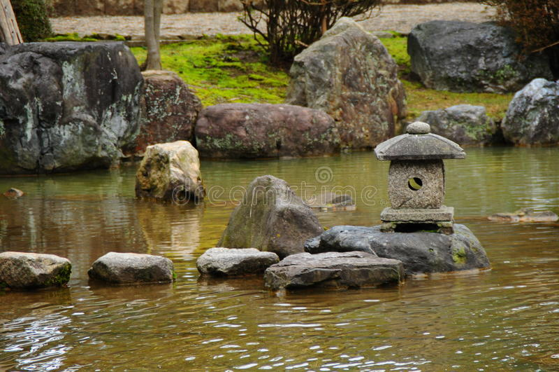 De tuin van Zen stock foto's