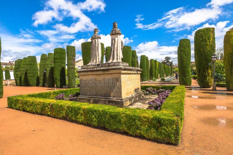 De tuinen van Alcazarcordoba stock afbeeldingen