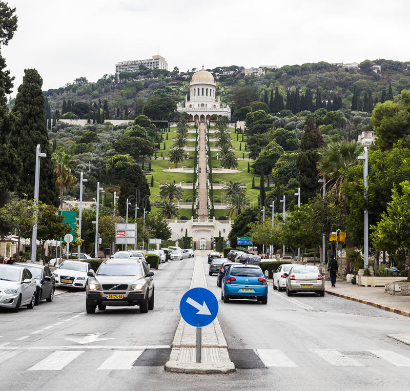 De tuinen van Bahai haifa israël royalty-vrije stock foto
