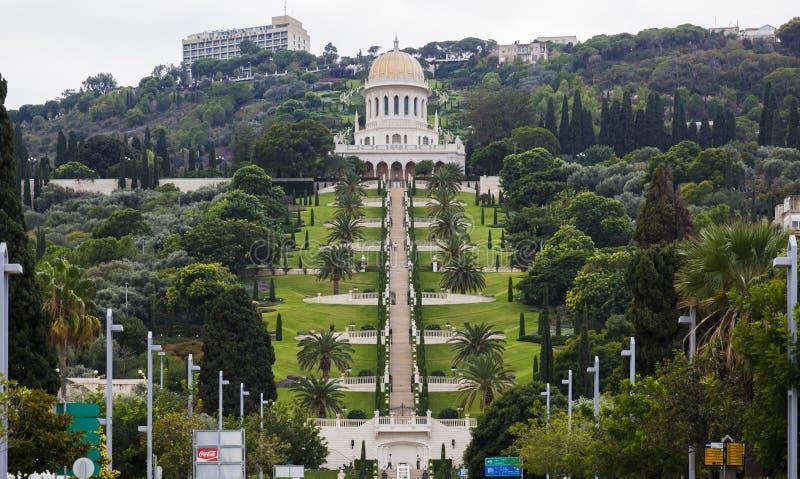 De tuinen van Bahai haifa israël royalty-vrije stock afbeelding