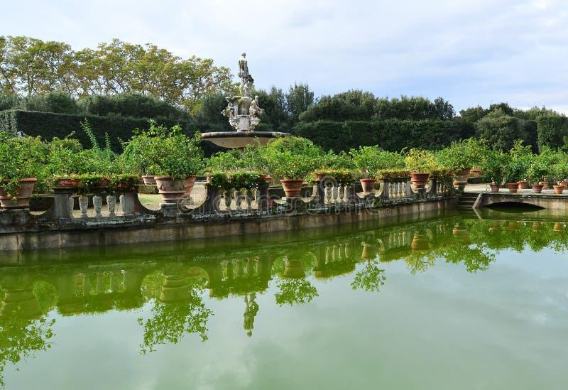 De Tuinen van Boboli stock afbeelding