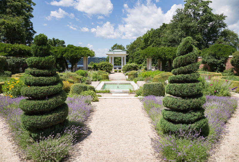 De Tuinen van de Blythewoodmanor stock fotografie