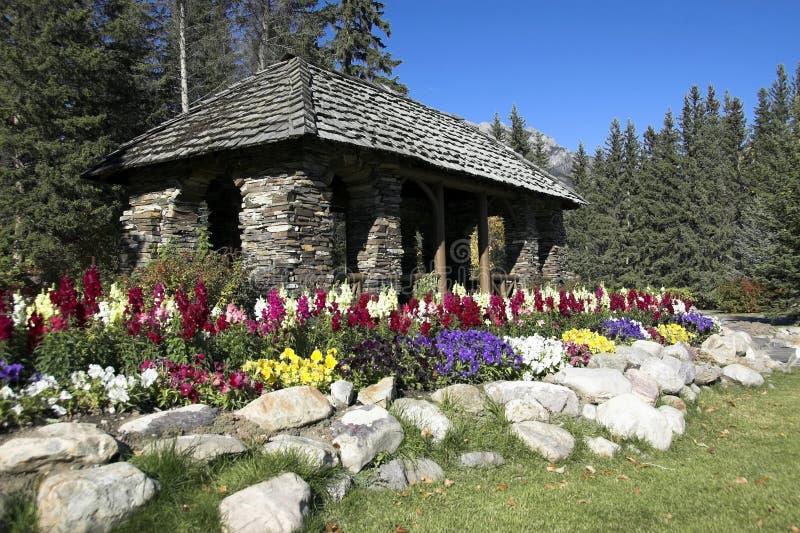 De Tuinen van de cascade, Banff royalty-vrije stock afbeelding
