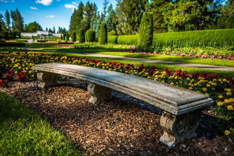 De tuinen van Duncan in Spokane Washington stock fotografie