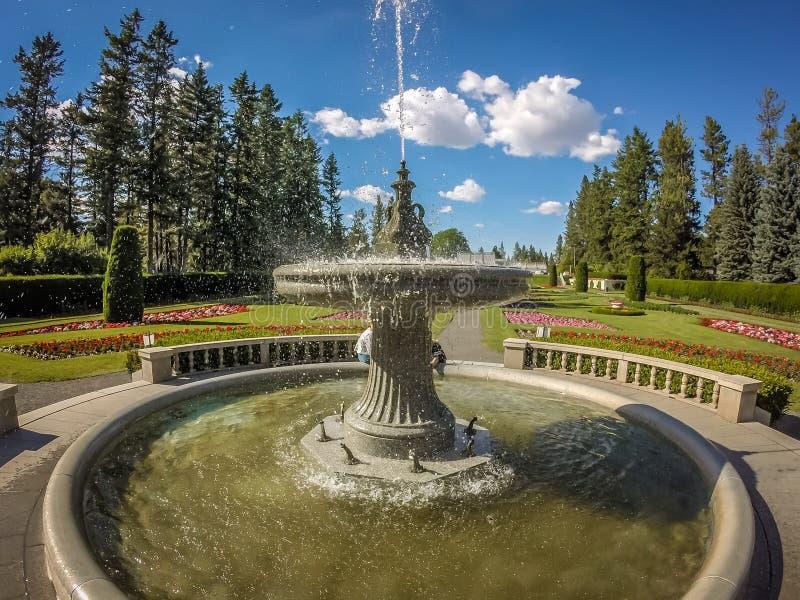 De tuinen van Duncan in Spokane wshington stock foto
