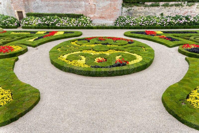 De Tuinen van het Berbiepaleis in Albi, Frankrijk royalty-vrije stock foto