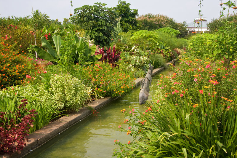 De Tuinen van het kanaal royalty-vrije stock afbeeldingen