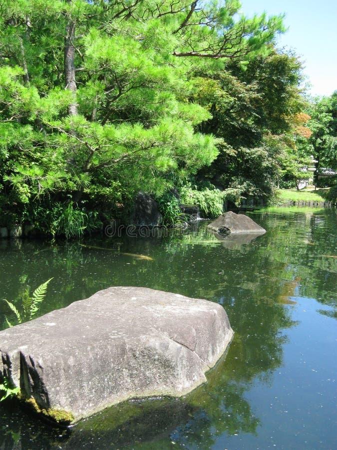 De tuinen van het Kasteel van Himeji royalty-vrije stock fotografie