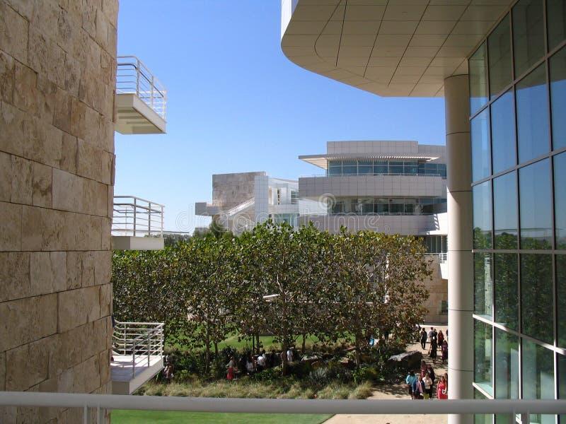 De Tuinen van het Museum van Getty - Los Angeles stock afbeeldingen