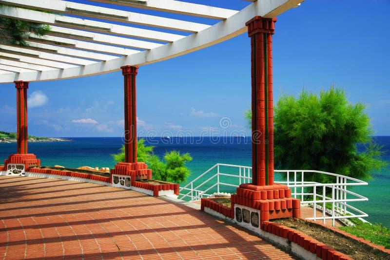 De Tuinen van het Strand van Piquio en Sardinero-in Santander royalty-vrije stock afbeelding