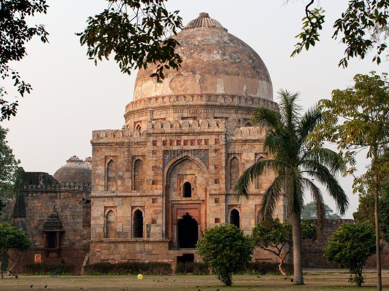 De Tuinen van Lodi Islamitisch Graf Bara Gumbad royalty-vrije stock foto's