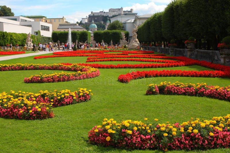 De tuinen van Mirabell in Salzburg royalty-vrije stock foto