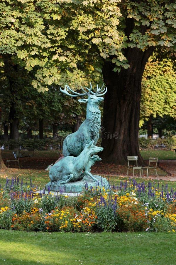 De Tuinen van Parijs - van Luxemburg stock fotografie
