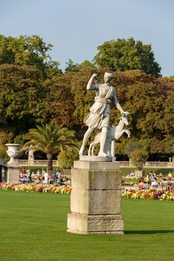 De Tuinen van Parijs - van Luxemburg royalty-vrije stock foto